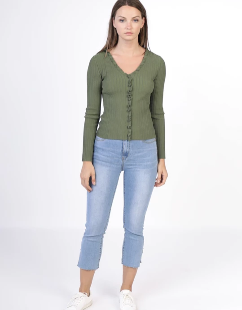 Current Air Ruffle Front Slim Fit Top