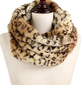 LIB Faux Fur Leopard Snood
