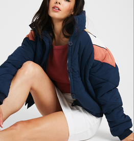 Wishlist Color Block Quilted Jacket