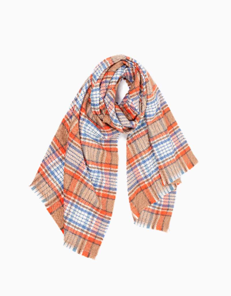 Look By M Vivid Plaid Scarf