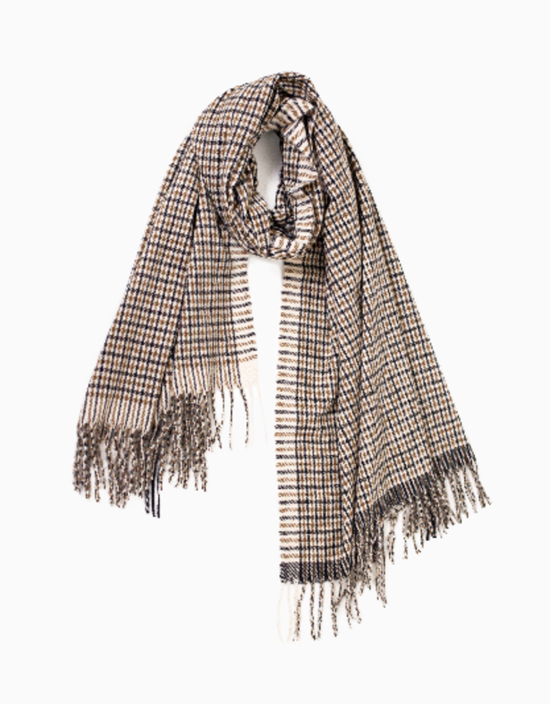 Look By M Two Tone Classic Checker Scarf
