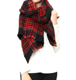 LIB Plaid Oversize Shawl Scarf
