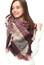 LIB Multi Color Square Blanket Scarf