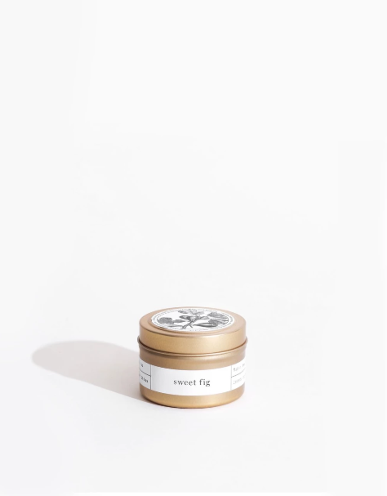 Brooklyn Candle Studio Sweet Fig Gold Travel Candle