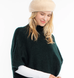 Look By M Cashmere Blend Ribbed Beret