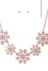 Blue Suede Jewels Lightweight Flower Statement Necklace