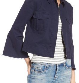 BB Dakota Jennie Cotton Twill Army Jacket Navy