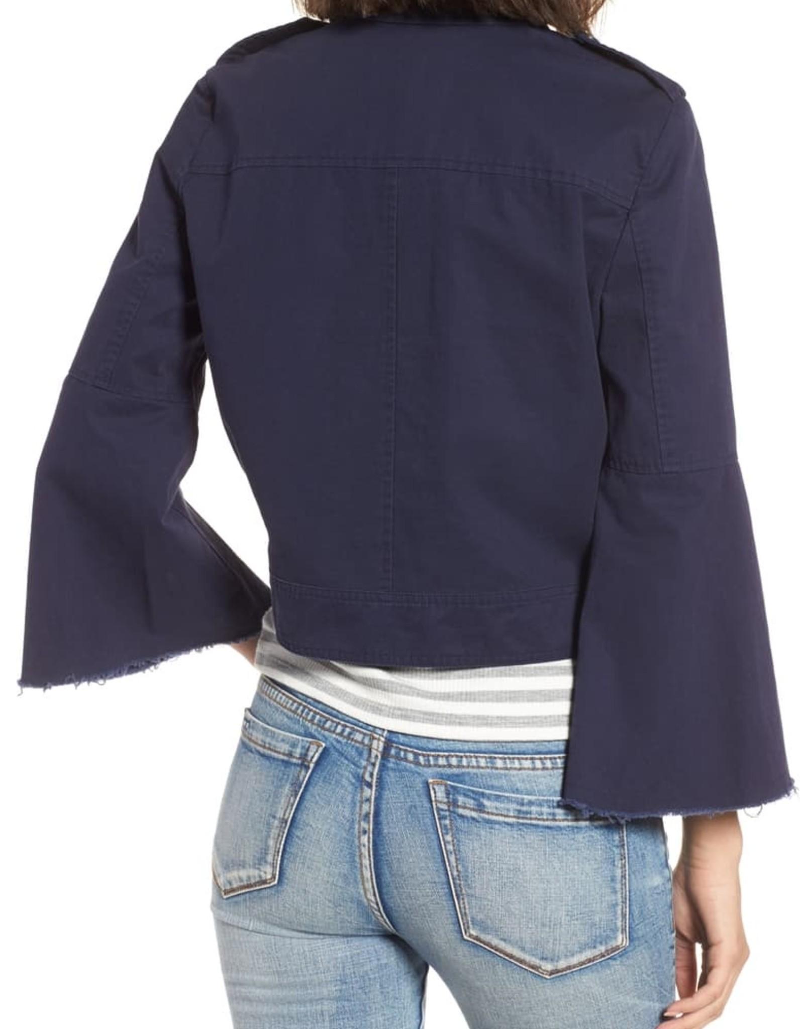 BB Dakota Jennie Cotton Twill Army Jacket Navy