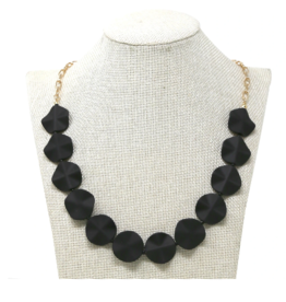 Matte Finished Petal Beaded Necklace