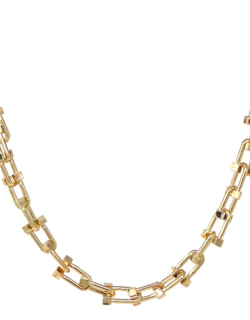 Horseshoe Link Urban Chain Necklace