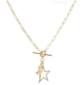 Star And Thunder Pendant Necklace