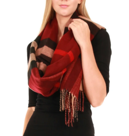 Pretty Ashling Plaid Oblong Scarf