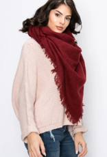 LIB Solid Color Square Blanket Scarf
