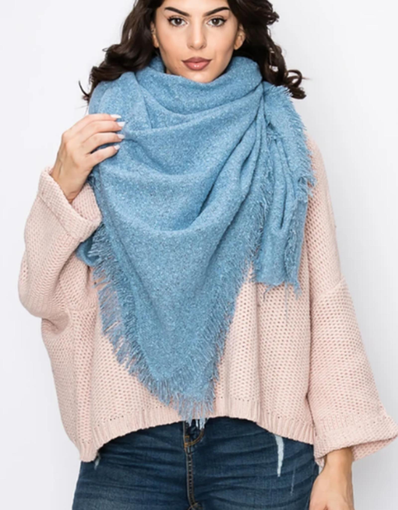 LIB Solid Color Square Blanket Scarf