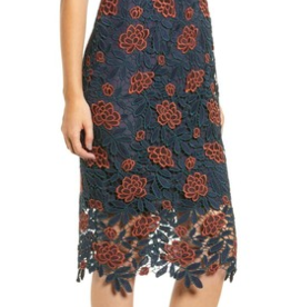Cupcakes & Cashmere PM Floral Lace Overlay Dress