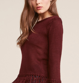 BB Dakota Burgundy Young Wild Free Sweater