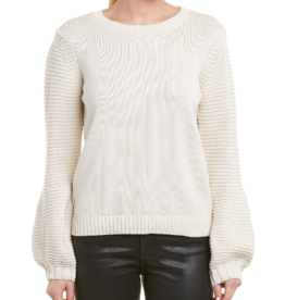 BB Dakota Oatmeal Bishop Sleeve  Sweater