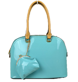 Alyssa Patent Leather Satchel Bag