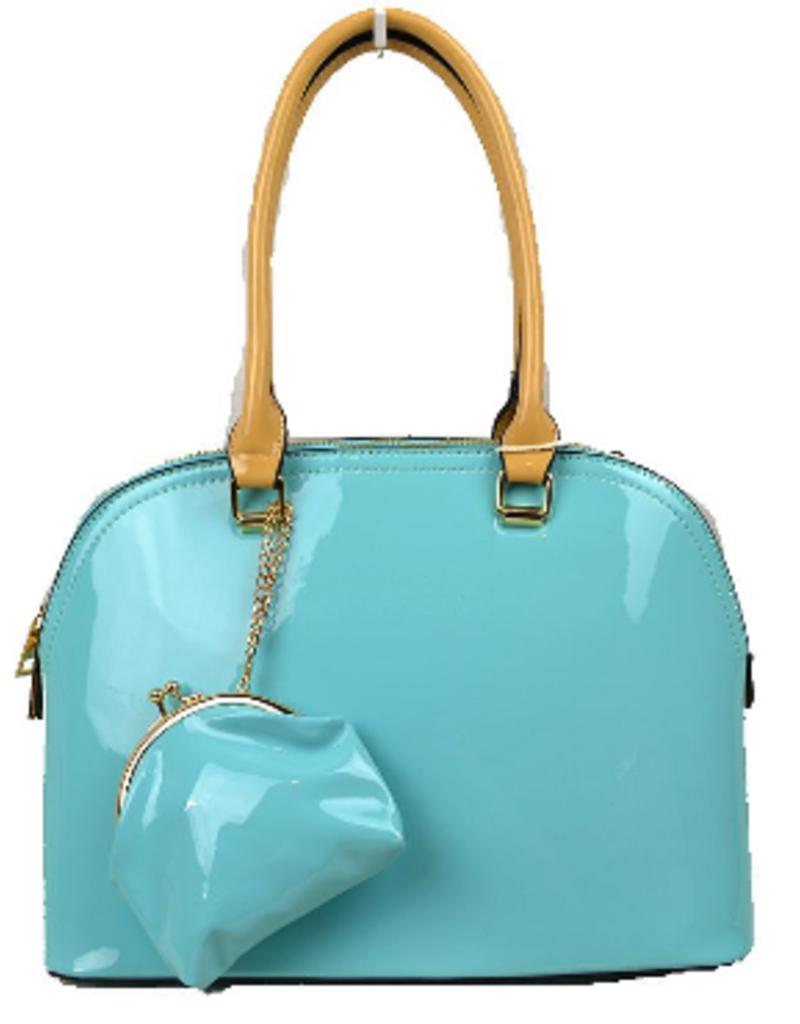 Alyssa Patent Leather Satchel Bag