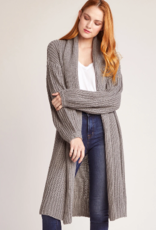 BB Dakota Gray Long Cardigan Sweater