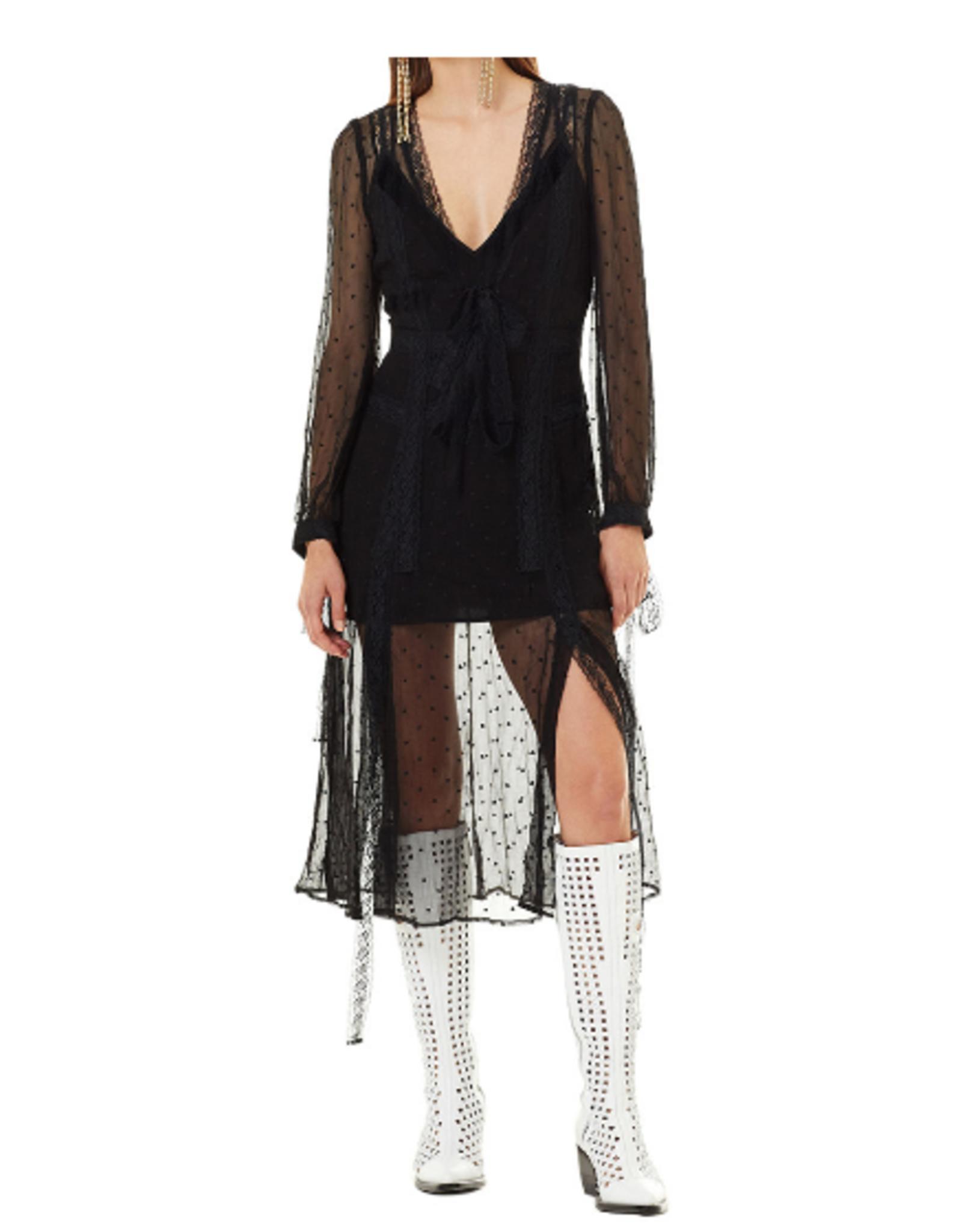 Stevie May Lace Black Midi Dress