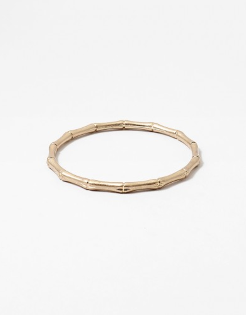 Blue Suede Jewels Bamboo Bangle Bracelet