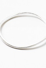 Blue Suede Jewels Silver Wave Bangle