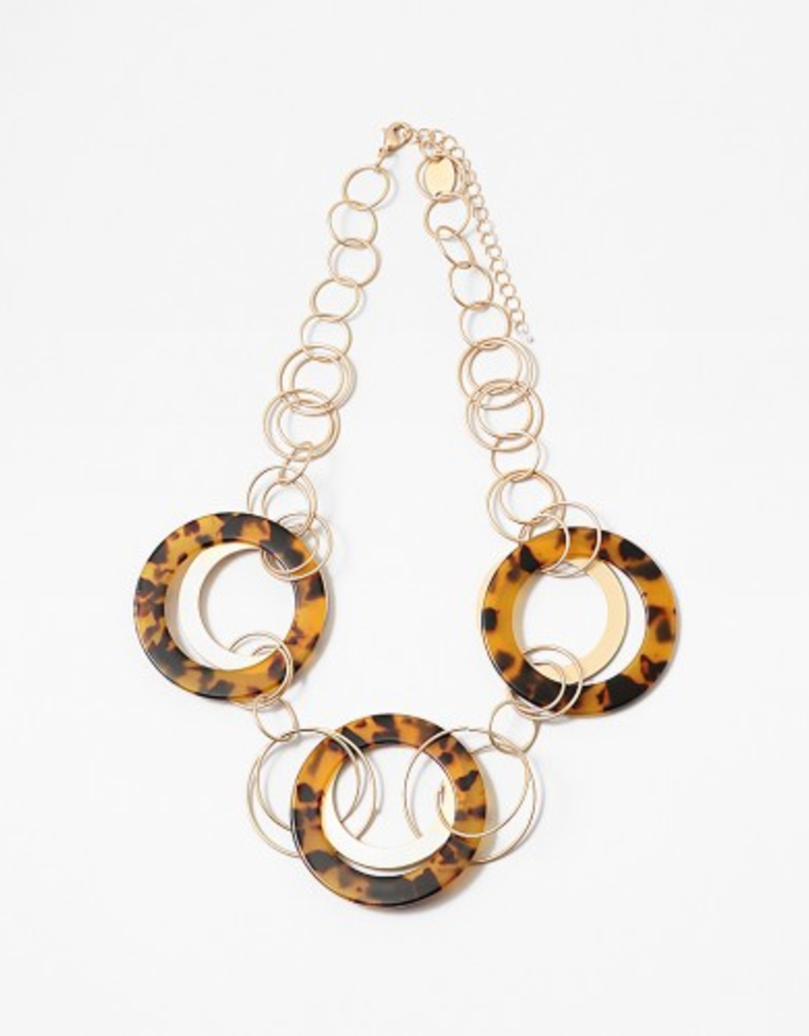 Blue Suede Jewels Circular Statement Necklace