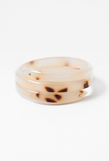 Blue Suede Jewels Resin Cuff with Two Gold Dots