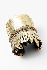Blue Suede Jewels Pegasus Gold Statement Cuff