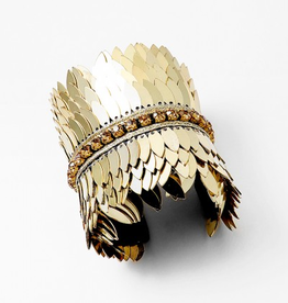 Blue Suede Jewels Pegasus Gold Statement Cuff
