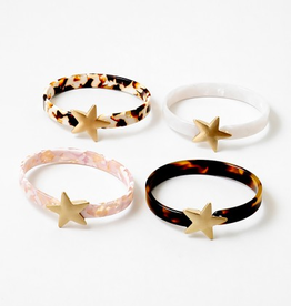 Blue Suede Jewels Resin Star Cuff