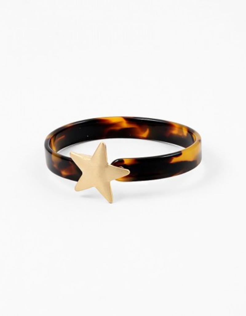 Blue Suede Jewels Resin Star Cuff