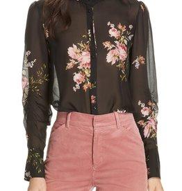 Joie Elzie Silk Floral Blouse XS