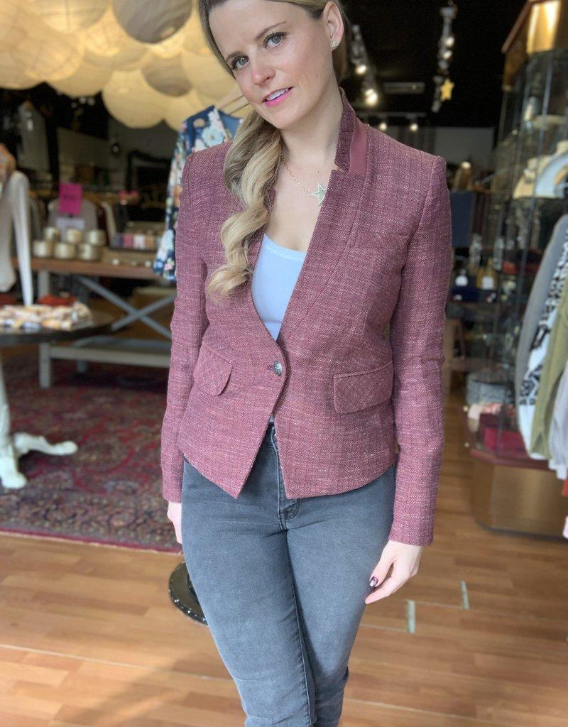 Veronica Beard Farley Dickey Jacket in Currant