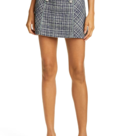 Veronica Beard Starck Plaid Tweed Miniskirt