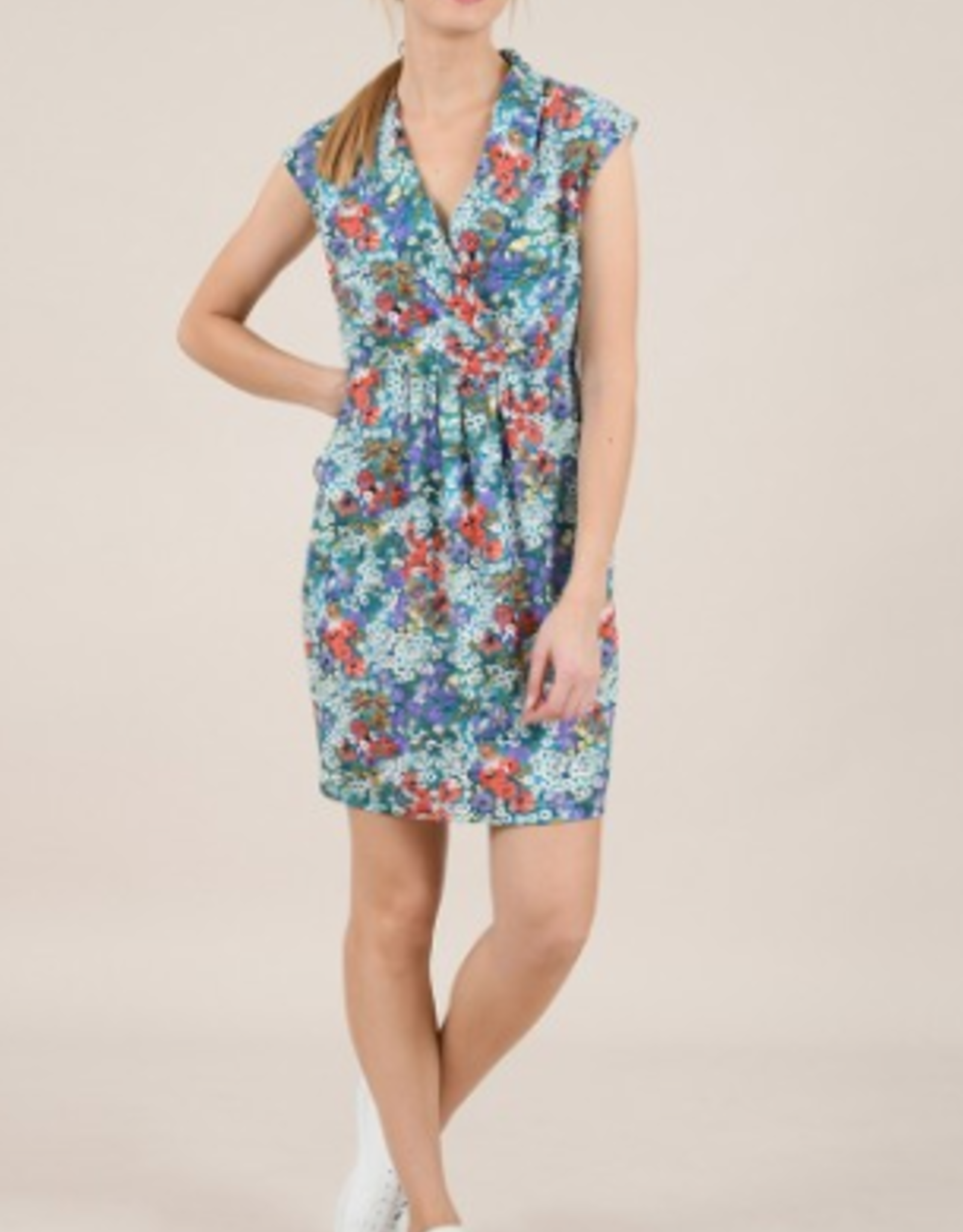 Molly Bracken Daisy Flower Print Dress