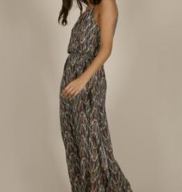 Molly Bracken Zig Zag Printed Maxi Dress