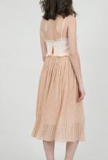Molly Bracken Ashley Powder Pink Printed Veil Skirt