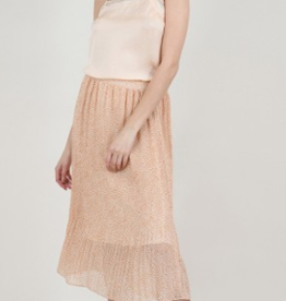 Molly Bracken Ashley Powder Pink Printed Veil Skirt
