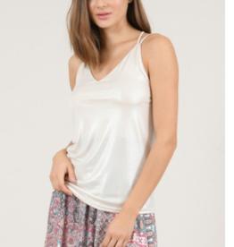 Molly Bracken Beige Iridescent Camisole