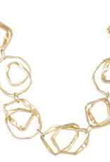 Crumpled Texture Metal Short Necklace