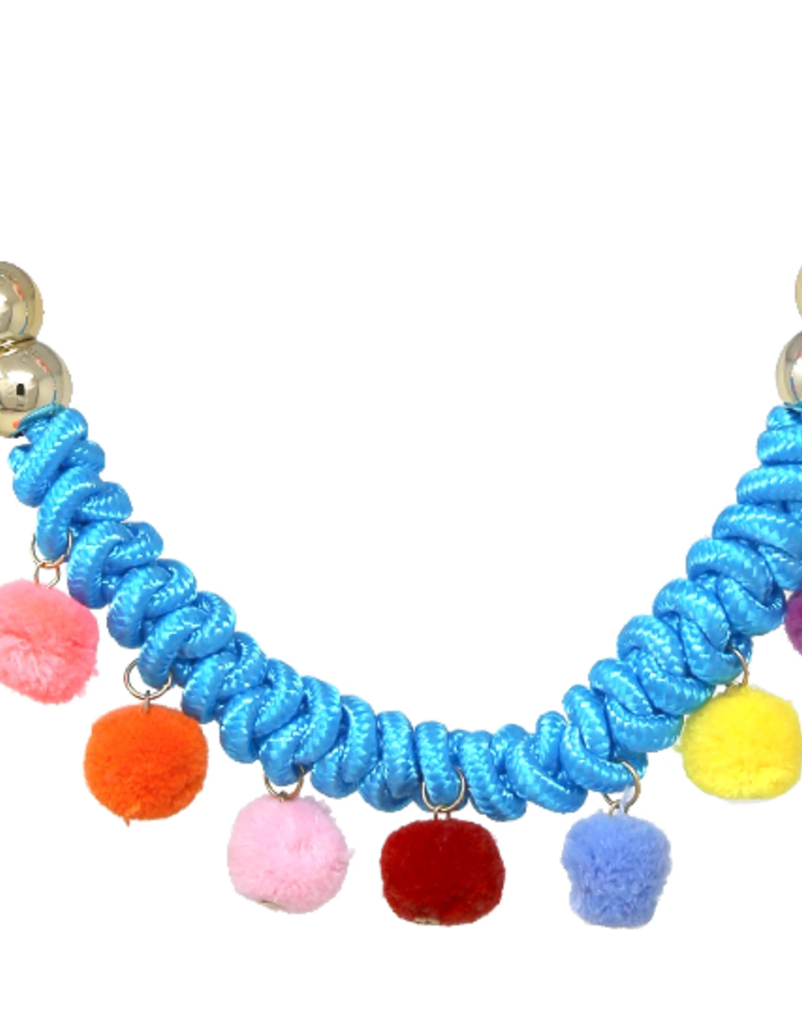 Chunky Knot Pom Pom Short Necklace