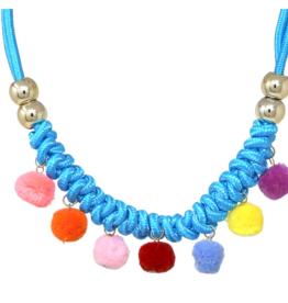 Chunky Knot Pom Pom Short Necklace