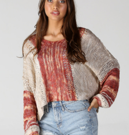 Angie Peach Crop Pullover