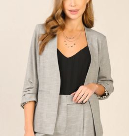 Skies Are Blue 3/4 SLV Pleated Blazer