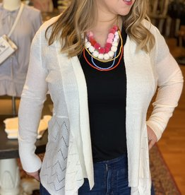 Skies Are Blue Drape Front Light Weight Cardigan