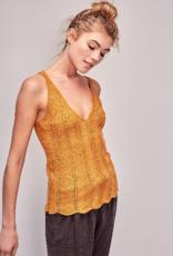 Mustard Seed Knit Scallop Edge Tank Top