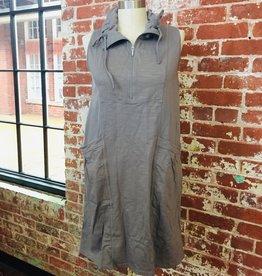 Neon Buddha Sleeveless Cotton Dress