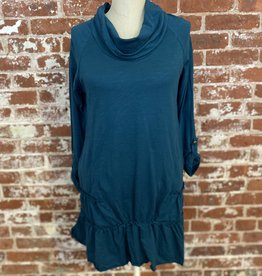 Neon Buddha Sunset Tunic Teal